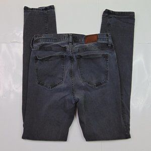 Madewell Alley Straight Jeans Dark Gray Stretch Denim Size 28